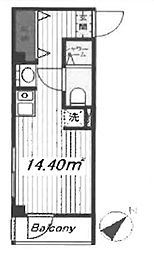 OYO LIFE #1401 PRINCEHOMES東大井 1階ワンルームの間取り