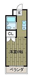 MORIYAMANSION[2階]の間取り
