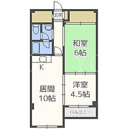 北海道札幌市厚別区厚別中央一条1丁目の賃貸マンションの間取り