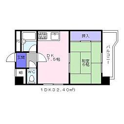 北條第二マンションアビコ[5階]の間取り