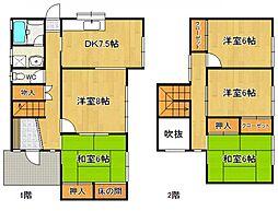 [一戸建] 奈良県橿原市白橿町2丁目 の賃貸【/】の間取り