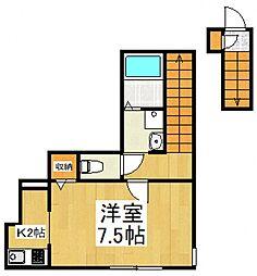 メゾンル・シェル清瀬[2階]の間取り