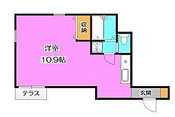 ドミール所沢III[1階]の間取り