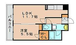 セゾンドール貝塚[5階]の間取り