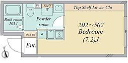 亀有2丁目・新築RCマンション 4階ワンルームの間取り