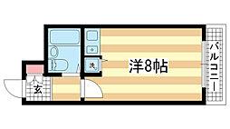 兵庫県神戸市中央区割塚通2丁目の賃貸マンションの間取り