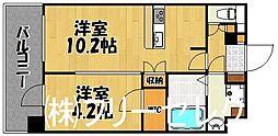 will Do中州[7階]の間取り
