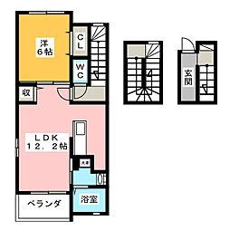 メゾン アンソレイエ[3階]の間取り