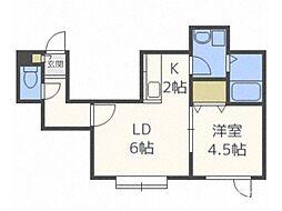 ケントハウスII[3階]の間取り