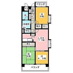 ライオンズマンション岩塚第2[2階]の間取り