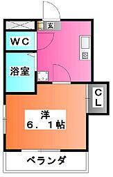 東京都北区東十条4の賃貸マンションの間取り