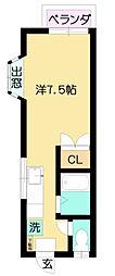 神奈川県秦野市上大槻の賃貸アパートの間取り