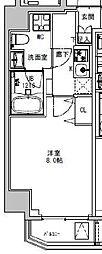 都営大江戸線 両国駅 徒歩5分の賃貸マンション 3階1Kの間取り