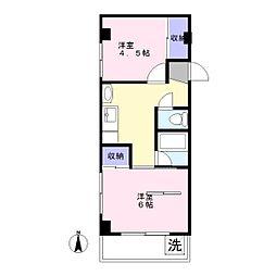 メゾン赤松[2階]の間取り