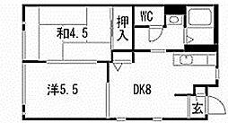 [タウンハウス] 福岡県北九州市門司区稲積1丁目 の賃貸【/】の間取り