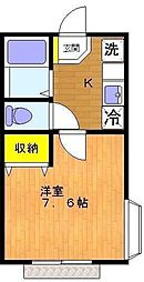 ビューテラス[1階]の間取り