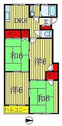 アジュール松戸[2階]の間取り