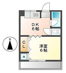 美鈴マンション[3階]の間取り