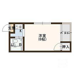 フローラ大倉[4階]の間取り