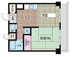 神奈川県横浜市南区新川町5丁目の賃貸マンションの間取り