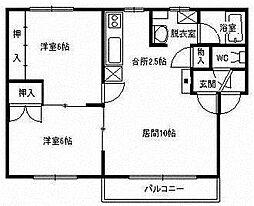 第8誉ハイツA[2階]の間取り
