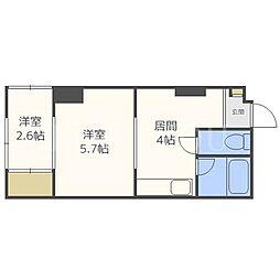 札幌ニュースカイマンション[2階]の間取り