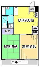 リエス国分寺恋ヶ窪[5階]の間取り