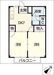 シティハイツヤマノ[2階]の間取り