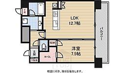 アーバンエース東心斎橋パル[10階]の間取り
