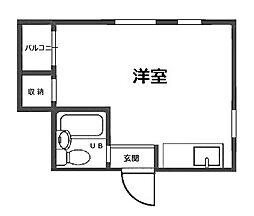 帝塚山ハイツ[5階]の間取り