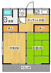 清水アパート[201号室号室]の間取り