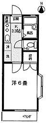 東京都世田谷区南烏山6丁目の賃貸アパートの間取り