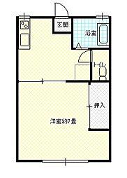 コウワハイツ1[205号室]の間取り