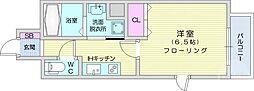 ライブカーサ仙台長町 3階1Kの間取り