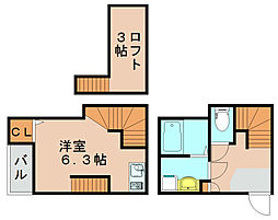 グランプラス箱崎2[2階]の間取り