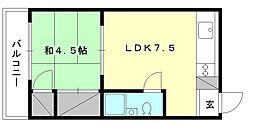 豊洋ハイツ[509 号室号室]の間取り