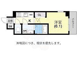 JR東海道・山陽本線 兵庫駅 徒歩5分の賃貸マンション 10階1Kの間取り