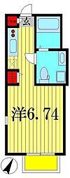 オーク・フォレスト[201号室]の間取り