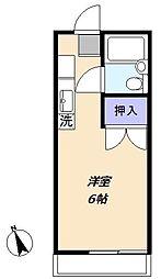 サンハイツ松嶋[1階]の間取り