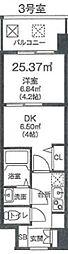 ビガーポリス346京橋II 10階1DKの間取り