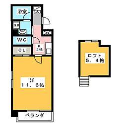 ボタニカルコート[10階]の間取り