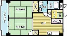 クレベ−ル片野[6階]の間取り