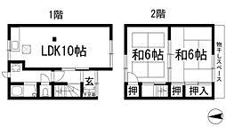 [テラスハウス] 兵庫県西宮市段上町7丁目 の賃貸【兵庫県 / 西宮市】の間取り