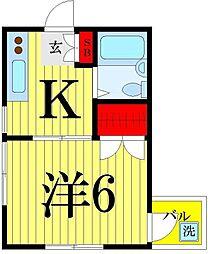 松岡コーポ2[305号室]の間取り