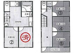 新宿シェアハウス[2号室]の間取り