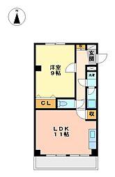 千瓢閣マンション[4階]の間取り