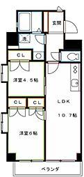 JR中央本線 吉祥寺駅 バス10分 下連雀八下車 徒歩2分の賃貸マンション 3階2LDKの間取り