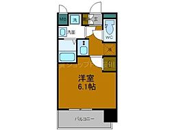 Osaka Metro長堀鶴見緑地線 大正駅 徒歩5分の賃貸マンション 3階1Kの間取り