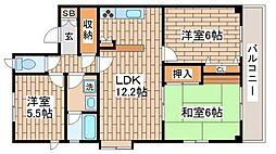 兵庫県神戸市垂水区下畑町字木下の賃貸マンションの間取り