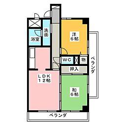 ドレスデン本郷[5階]の間取り